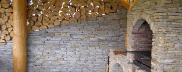 Grill i altana wykonana z łupka tatrzańskiego